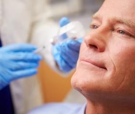 Male non-invasive cosmetic botulinum injection Stock Photo 03