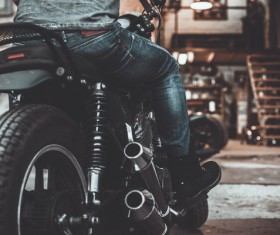 Man riding motorcycle Stock Photo 01