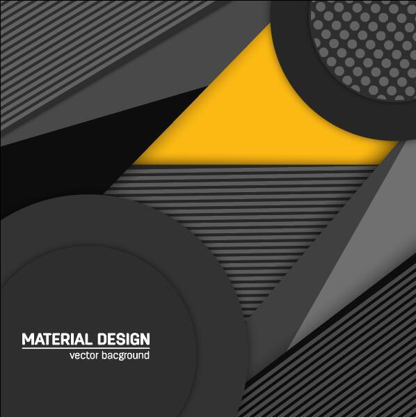 Metal black modern vector background