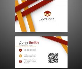 Modern business cards design vector