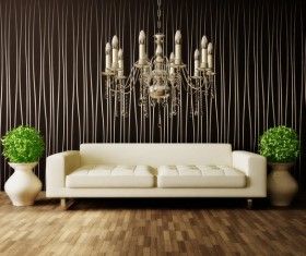 Modern interior room with stylish furniture Stock Photo 10
