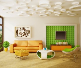 Modern interior room with stylish furniture Stock Photo 12