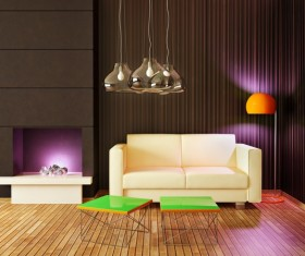 Modern interior room with stylish furniture Stock Photo 13