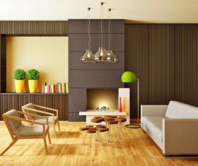 Modern interior room with stylish furniture Stock Photo 14