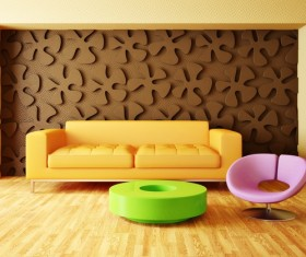 Modern interior room with stylish furniture Stock Photo 15