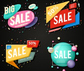 Modern sale banners design vectors