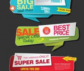 Modern super sale flat banner vector