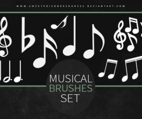 Musical symbols photoshop brushes