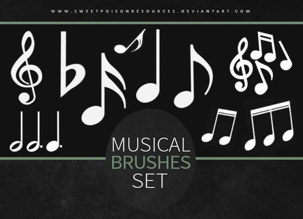 Musical symbols photoshop brushes