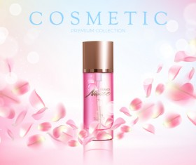 Nature rose water cosmetic AD poster template vector 07