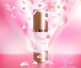 Nature rose water cosmetic AD poster template vector 09