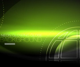 Neon glowing line background vector template 01