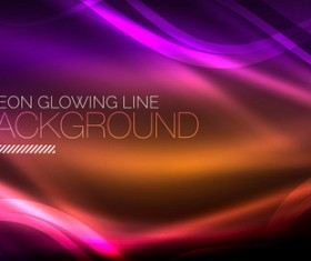 Neon glowing line background vector template 02