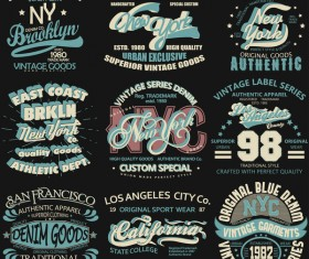 New york logos design vector