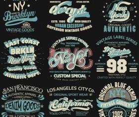 New york logos design vector