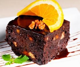 Nutty chocolate dessert Stock Photo 02