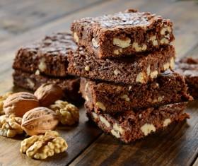 Nutty chocolate dessert Stock Photo 03