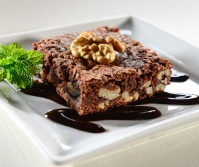 Nutty chocolate dessert Stock Photo 04