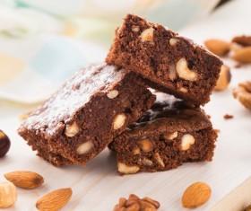 Nutty chocolate dessert Stock Photo 07