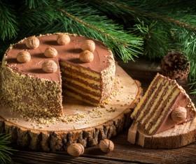 Nutty chocolate dessert Stock Photo 08