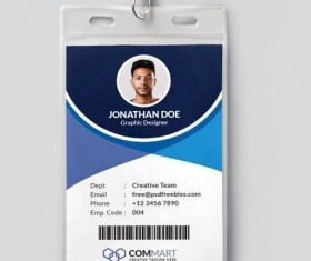 Office Identity Card PSD Template