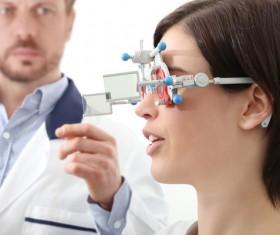 Optician optometry Stock Photo