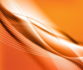 Orange wavy abstract elements vector 03