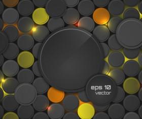 Orange with black cricle creative background vector