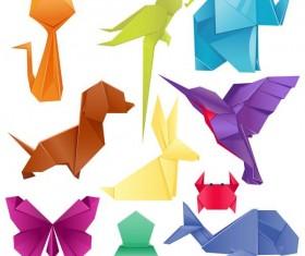 Paper animals vectors material 02