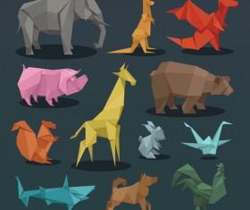 Paper animals vectors material 03