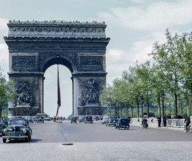 Paris old photo Stock Photo