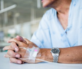Patient infusion Stock Photo 02