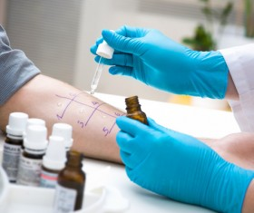 People doing medical experiments Stock Photo