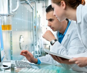 People working in the laboratory Stock Photo 01