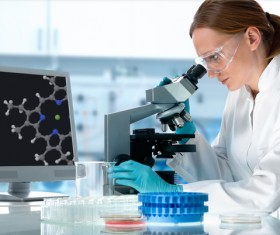People working in the laboratory Stock Photo 02