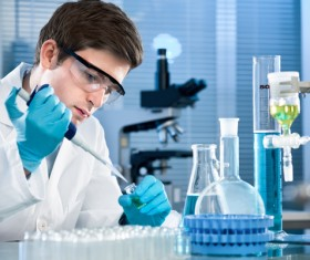 People working in the laboratory Stock Photo 03