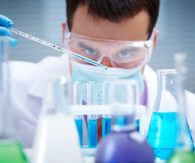People working in the laboratory Stock Photo 05