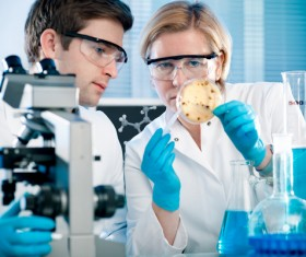 People working in the laboratory Stock Photo 06