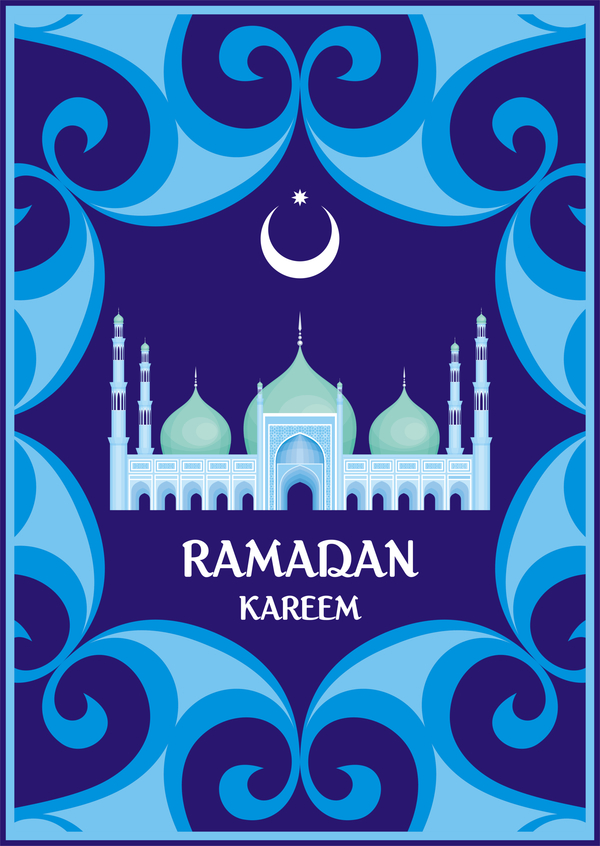 Ramadan greeting card blue vector 02 free download ramadan greeting card blue vector 02 m4hsunfo