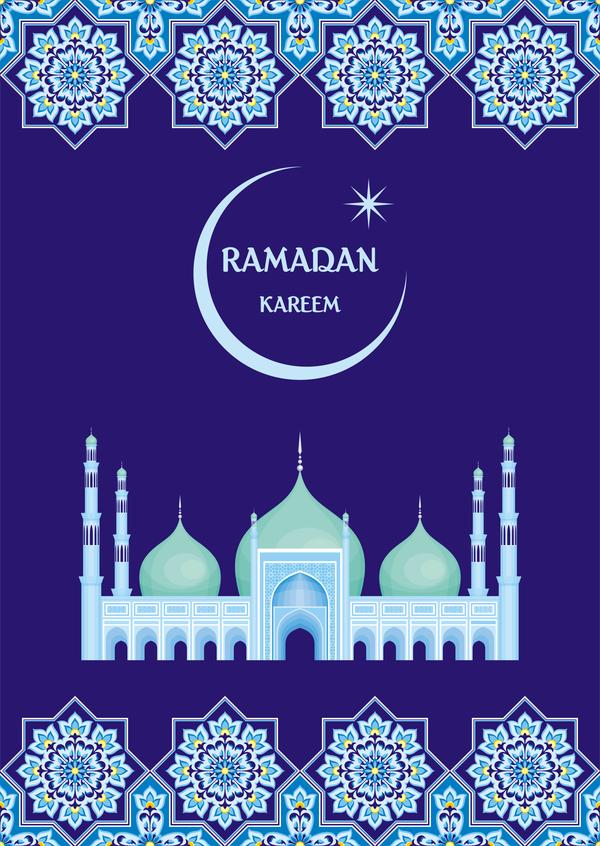 Ramadan greeting card blue vector 04 free download ramadan greeting card blue vector 04 m4hsunfo