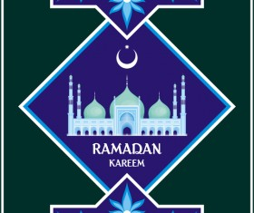 Ramadan greeting card template vector