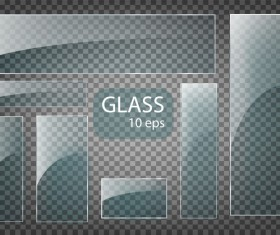 Rectangle glass banner vector 02