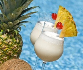 Refreshing coconut cocktail Stock Photo 01