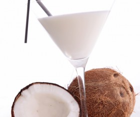 Refreshing coconut cocktail Stock Photo 04