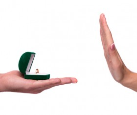 Refuse to marriage proposal Stock Photo