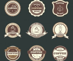 Retro badge vector material