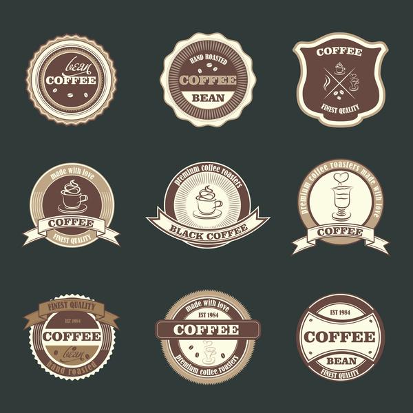 Retro badge vector material