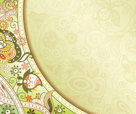 Retro decorative floral ornate vectors 01