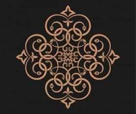Retro ornaments design vector material