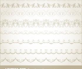 Retro seamless borders decor vector set 12